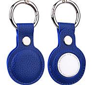 abordables -étui porte-clés en cuir pour apple airtags housse de protection coque de pare-chocs tracker accessoires de localisation anti-rayures anti-perte crochet portable pour manchon d'airtags