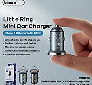 economico -Remax 27 W Potenza di uscita USB USB C Presa per caricabatteria USB per auto Caricabatterie portatile Per iPad Cellulari