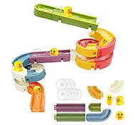 economico -giocattoli da bagno palline d'acqua tracce per bambini per parete vasca da bagno scivolo giocattolo per bambini 3 4 5 6 anni 34 pezzi fai da te smontare set doccia regalo per bambini