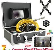 economico -f927wf-20m/30m/40m/50m endoscopio industriale fotocamera digitale endoscopio 1 mp led portatile luce palmare ip68 impermeabile pipeline 20m