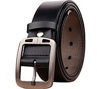 economico -Per uomo Larga Ufficio / Business Da tutti i giorni Come mostrato nell'immagine Pelle Cintura Tinta unica