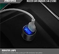 economico -remax 12 w potenza di uscita usb caricabatteria da auto usb presa caricabatteria del telefono caricatore portatile per ipad cellulare