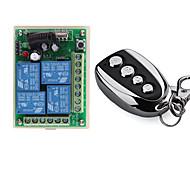 economico -433 mhz universale wireless remote control switch dc 12v 4ch modulo ricevitore relè con 4 canali rf remote trasmettitore 433 mhz