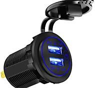 economico -21 W Potenza di uscita USB Caricatore per auto Caricatore veloce Caricabatterie portatile Per iPad Universale Cellulari