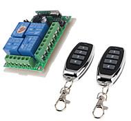economico -Interruttore intelligente wireless rf / ricevitore relè dc12v 4ch / uso per motore / luce led / interruttore momentaneo agganciato può cambiare relè 433 mhz 10a