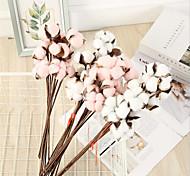 economico -43 cm giardino stile imitazione pianta cotone bouquet 10 decorazioni per la casa