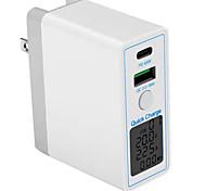 economico -63 W Potenza di uscita USB Caricatore USB Caricatore del telefono Caricabatterie portatile Per iPad Cellulari
