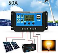 economico -regolatore di carica solare con lcd e regolatore di uscita automatico 50a 12v 24v regolatore di carica solare display lcd dual usb
