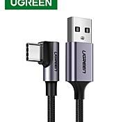 economico -UGREEN USB C Cavi Alta velocità 3 A 3.0M (10 piedi) 2.0m (6,5 piedi) 1.5M (5 piedi) Nylon Per Xiaomi Huawei Appendini per cellulare