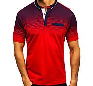 abordables -Homme Chemise de golf Autres imprimés Bloc de Couleur Manches Courtes Décontracté Hauts Simple Mode Sportif Blanche Rouge Noir / Des sports / Eté