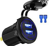 economico -24 W Potenza di uscita USB Caricatore per auto Caricatore veloce Caricabatterie portatile Per iPad Universale Cellulari