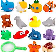 economico -15 squirties da bagno d'acqua - divertenti squirters galleggianti da spremere e spruzzare da vasca - giocattoli ideali per bambini, neonati, bambini piccoli durante il bagnetto (animali dell'oceano)