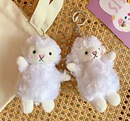 economico -ragazza carina ciondolo carino peluche bambola agnello bambola bambola borsa ciondolo morbido carino accessori portachiavi femmina
