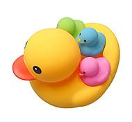 economico -giocattoli anatra da bagno 4 pezzi di anatra in gomma colorata squittio familiare& anatre galleggianti baby shower giocattolo per bambini piccoli ragazzi ragazze 3 mesi+