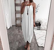 economico -2019 aliexpress amazon ebaywish donne europee e americane di vendita calda di colore solido lavorato a maglia sciolto vestito irregolare