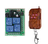 economico -433mhz dc 12v 4ch wireless radiofrequenza telecomando interruttore sistema di sicurezza porta del garage serratura elettronica chiave 4 pulsanti