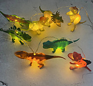 economico -luci stringa led 1m 2m dinosauro giurassico luci animali bianco caldo rgb bianco natale festa creativa di capodanno luci notturne decorative luci fata 1 set