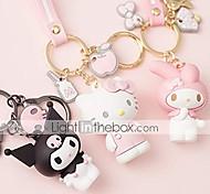 abordables -charmes de sac à main porte-clés porte-clés adorable dessin animé de qualité supérieure, bonjour kitty / ma mélodie / kuromi / keroppi / badtz-maru (ma mélodie)