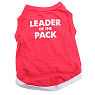 ieftine -Câine Tricou Inimă Animal Îmbrăcăminte Câini Respirabil Rosu Costume Bumbac XS S M L