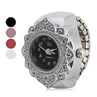 Damen Uhr Ringuhr Japanisch Quartz Edelstahl Silber Armbanduhren für den Alltag Analog damas Blume Modisch Schwarz Rot Rosa / Ein Jahr / Ein Jahr / SSUO SR626SW