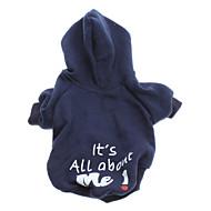 ieftine -Câine Hanorace cu Glugă Literă & Număr Modă Iarnă Îmbrăcăminte Câini Albastru Costume Bumbac XS S M L
