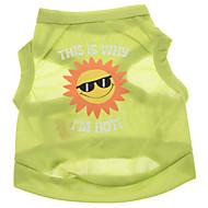ieftine -Câine Tricou Literă & Număr Îmbrăcăminte Câini Verde Costume Terilenă XS S M L