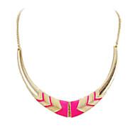 ieftine -Pentru femei Coliere Choker Coliere Semilună femei Design Unic European Modă Aliaj Negru Roz Coliere Bijuterii Pentru Petrecere Felicitări Zilnic Casual