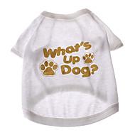 ieftine -Tricou pentru Câini Alb Vara Bumbac