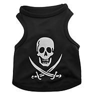 ieftine -Câine Tricou Cranii Halloween Îmbrăcăminte Câini Negru Costume Terilenă XS S M L