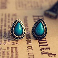 ieftine -Pentru femei Cercei Stud Σταυρός Picătură Floare Vintage Sculptat Stilul Folk cercei Bijuterii Albastru Pentru Petrecere Zilnic