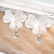ieftine -Pentru femei Diamant sintetic Cercei Picătură Fluture Animal Ieftin femei Design Unic stil minimalist Ștras cercei Bijuterii Alb Pentru Petrecere Zilnic