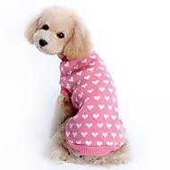 economico -Maglioni Con cuori Tenere al caldo Inverno Abbigliamento per cani Rosa Costume Da ragazza Lanetta XS S M L XL XXL