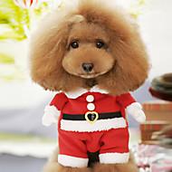 Hond kostuums Winter Hondenkleding Rood Kostuum Katoen Cartoon Cosplay Kerstmis XS S M L XL