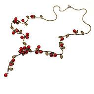 povoljno -Žene Crvena Cora Lančići Višnja Voće dame Moda Opeka Legura Crvena Ogrlice Jewelry Za Party Dnevno Kauzalni