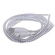 Micro USB 2.0 / USB 2.0 Flettet Kabel for 200 cm Til Nylon