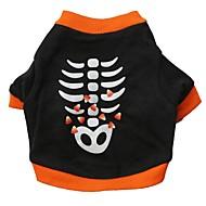ieftine -Pisici Câine Tricou Desene Animate Îmbrăcăminte Câini Respirabil Negru Costume Bumbac XS S M L