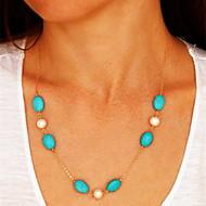 ieftine -Coliere cu Pandativ European Perle Reșină Aliaj Albastru Coliere Bijuterii Pentru Petrecere Zilnic Casual