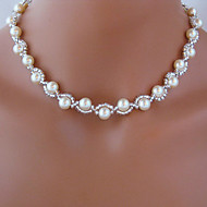 ieftine -Coliere Colier Lant de rozariu Imitație de Perle Alb Coliere Bijuterii Pentru Nuntă Petrecere Zilnic Casual