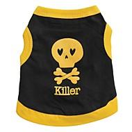 ieftine -Pisici Câine Tricou Inimă Cranii Îmbrăcăminte Câini Respirabil Negru / Galben Negru Galben Costume Bumbac XS S M L