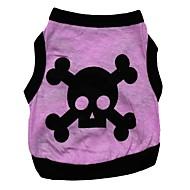 ieftine -Pisici Câine Tricou Inimă Cranii Îmbrăcăminte Câini Respirabil Mov Costume Bumbac XS S M L