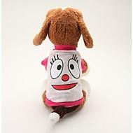 ieftine -Câine Tricou Desene Animate Casul / Zilnic Îmbrăcăminte Câini Respirabil Albastru Roz Costume Bumbac XS S M L