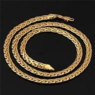ieftine -Coliere Choker Lănțișoare Figaro lanț chunky Foxtail lanț femei Dubai Placat Auriu Aur Alb 18K de aur umplut Auriu Coliere Bijuterii Pentru Nuntă Petrecere Zilnic Casual Sport / Coliere Colier