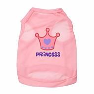 cheap -Cat Dog Shirt / T-Shirt Dog Clothes Pink Rose Costume Terylene Tiaras & Crowns XS S M L