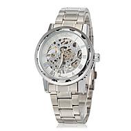ieftine -WINNER Bărbați ceas mecanic Mecanism manual Oțel inoxidabil Argint Gravură scobită Analog Charm - Alb Albastru Roz auriu