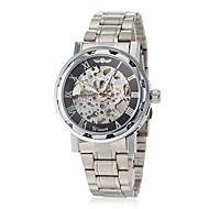 ieftine -WINNER Bărbați Ceas Schelet Ceas de Mână ceas mecanic Mecanism manual Oțel inoxidabil Argint Gravură scobită Analog Fluture - Roz auriu Auriu Argintiu