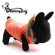 ieftine -Pisici Câine Hanorace cu Glugă Îmbrăcăminte Câini Portocaliu Rosu Terilenă Costume Pentru Iarnă