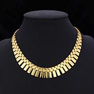 ieftine -Pentru femei Coliere Choker Guler Franjuri chunky Declarație femei Ciucure Dubai Placat cu platină Placat Auriu Aur Alb Auriu Argintiu Set de bijuterii din argint 3 buc Set de bijuterii de aur 3 buc