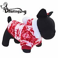ieftine -Pisici Câine Hanorace cu Glugă Iarnă Îmbrăcăminte Câini Rosu Maro Costume Terilenă XS S M L