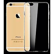 غطاء من أجل Apple iPhone X / إفون 8 / iPhone 8 Plus نحيف جداً / شفاف غطاء خلفي لون سادة ناعم سيليكون إلى iPhone X / iPhone 8 Plus / iPhone 8