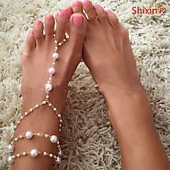ieftine -Brățară Gleznă European Modă Pentru femei Bijuterii de corp Pentru Zilnic Casual Perle Perle Imitație de Perle Aliaj Auriu